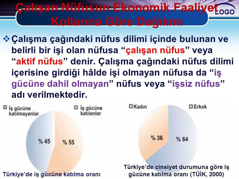 Çalışan Nüfusun Ekonomik Faaliyet Kollarına Göre Dağılımı