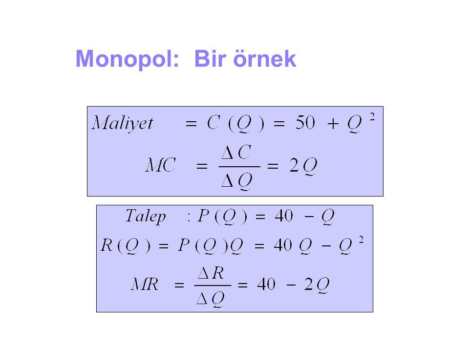 Monopol: Bir örnek 3