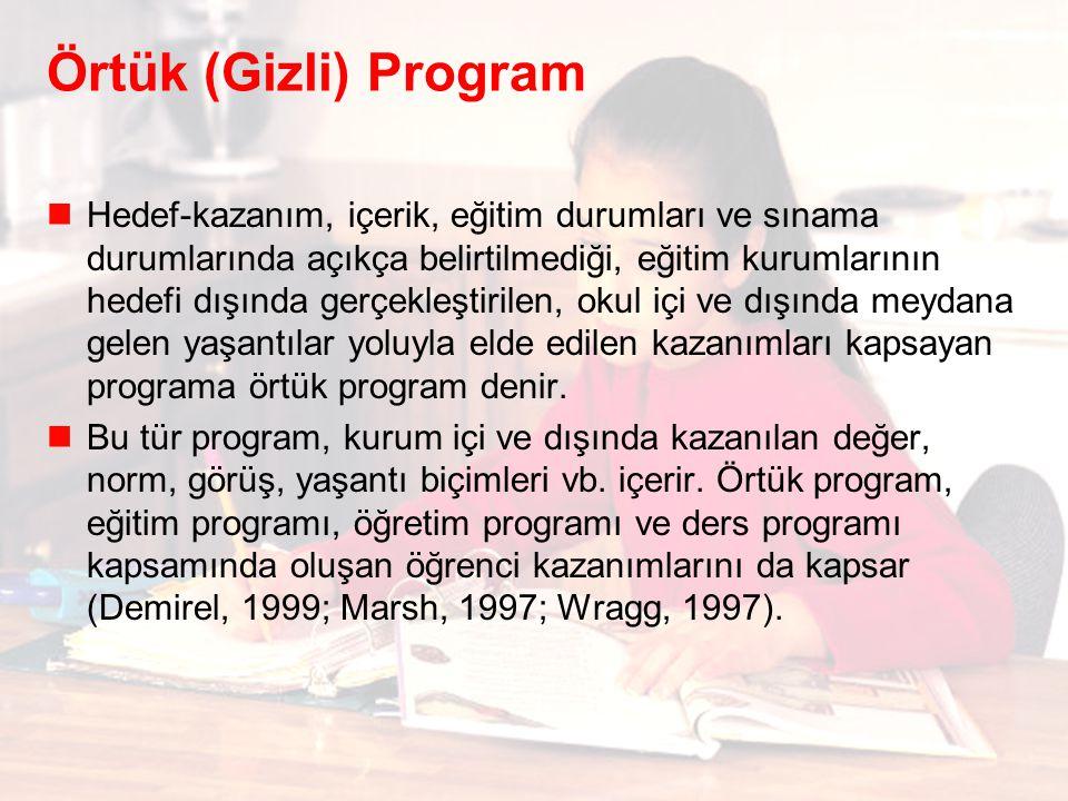 Örtük (Gizli) Program