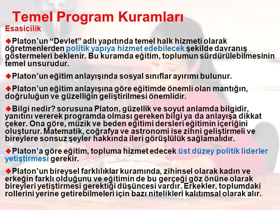 Temel Program Kuramları