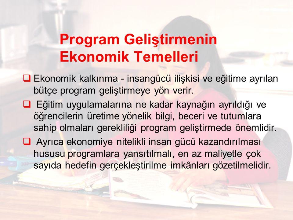 Program Geliştirmenin Ekonomik Temelleri