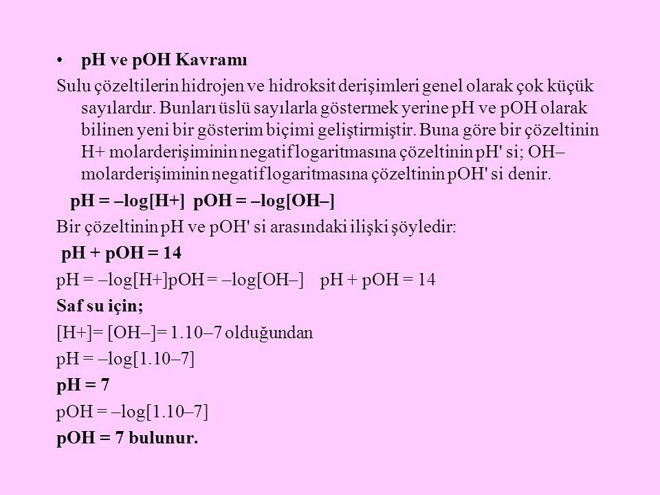 pH ve pOH Kavramı