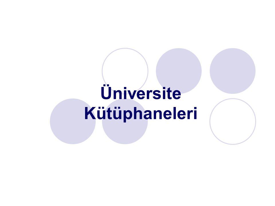 Üniversite Kütüphaneleri