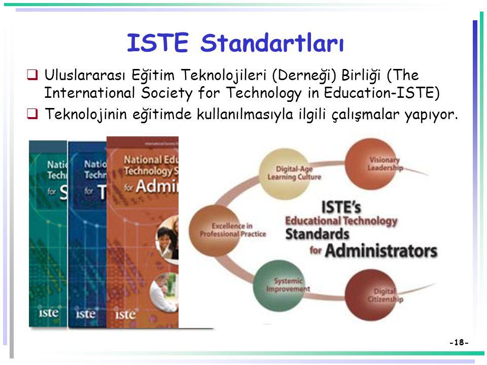 ISTE Standartları Uluslararası Eğitim Teknolojileri (Derneği) Birliği (The International Society for Technology in Education-ISTE)