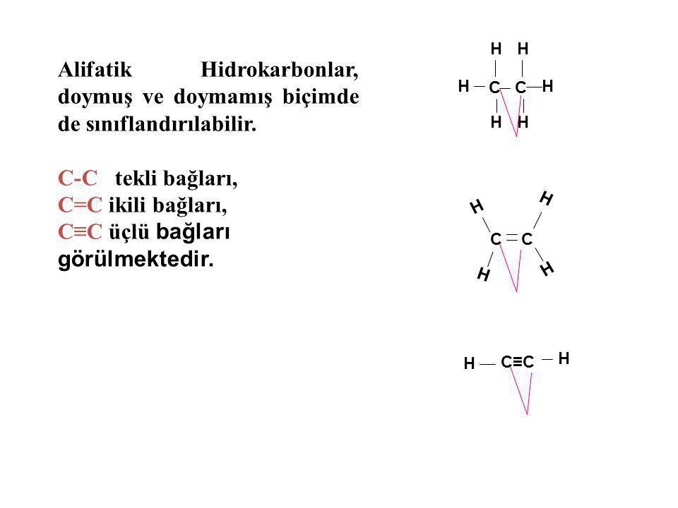C≡C üçlü bağları görülmektedir.