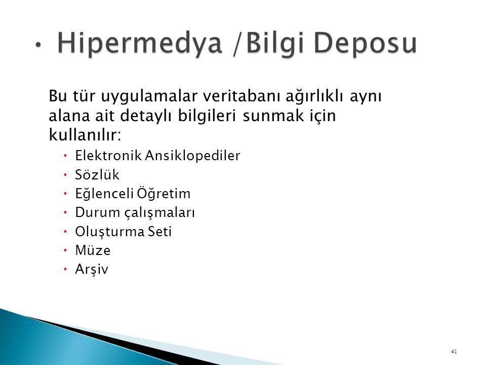 Hipermedya /Bilgi Deposu