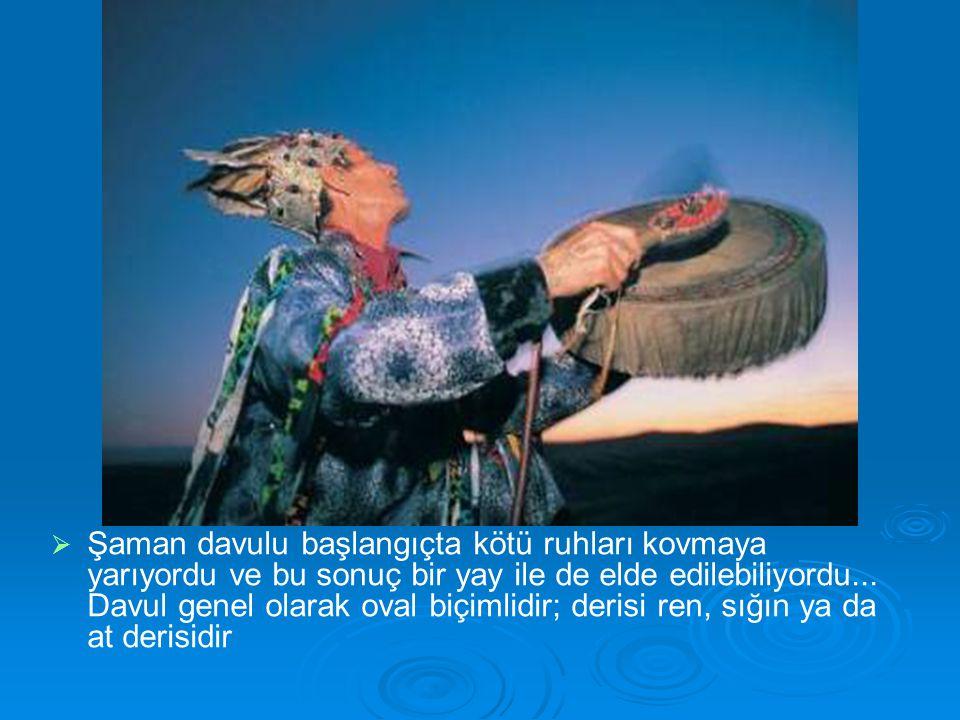 Şaman davulu başlangıçta kötü ruhları kovmaya yarıyordu ve bu sonuç bir yay ile de elde edilebiliyordu...