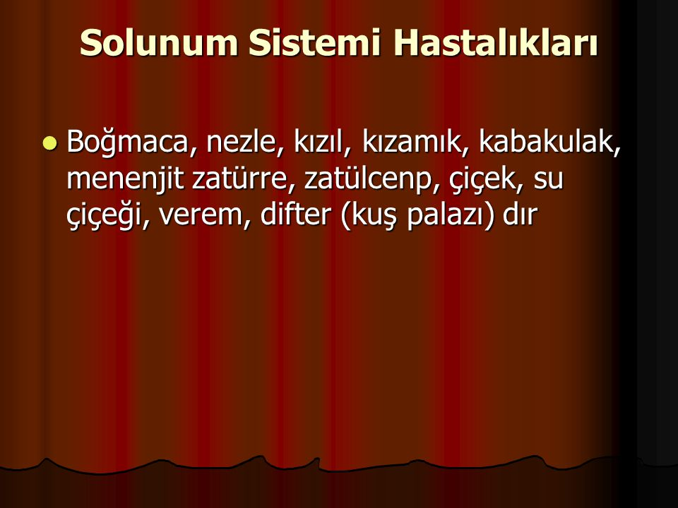 Solunum Sistemi Hastalıkları