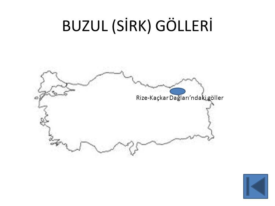 BUZUL (SİRK) GÖLLERİ Rize-Kaçkar Dağları'ndaki göller