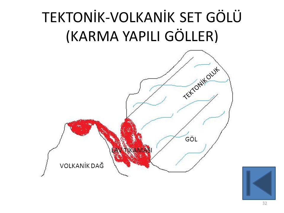 TEKTONİK-VOLKANİK SET GÖLÜ (KARMA YAPILI GÖLLER)