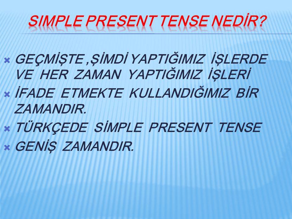 Simple present tense nedİr