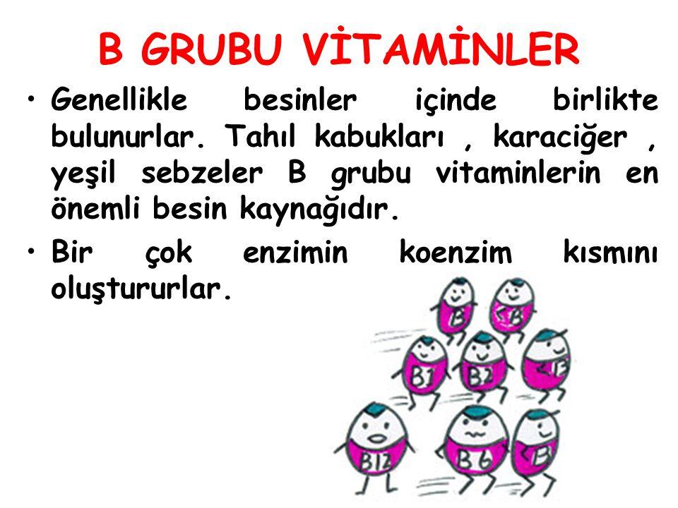 B GRUBU VİTAMİNLER