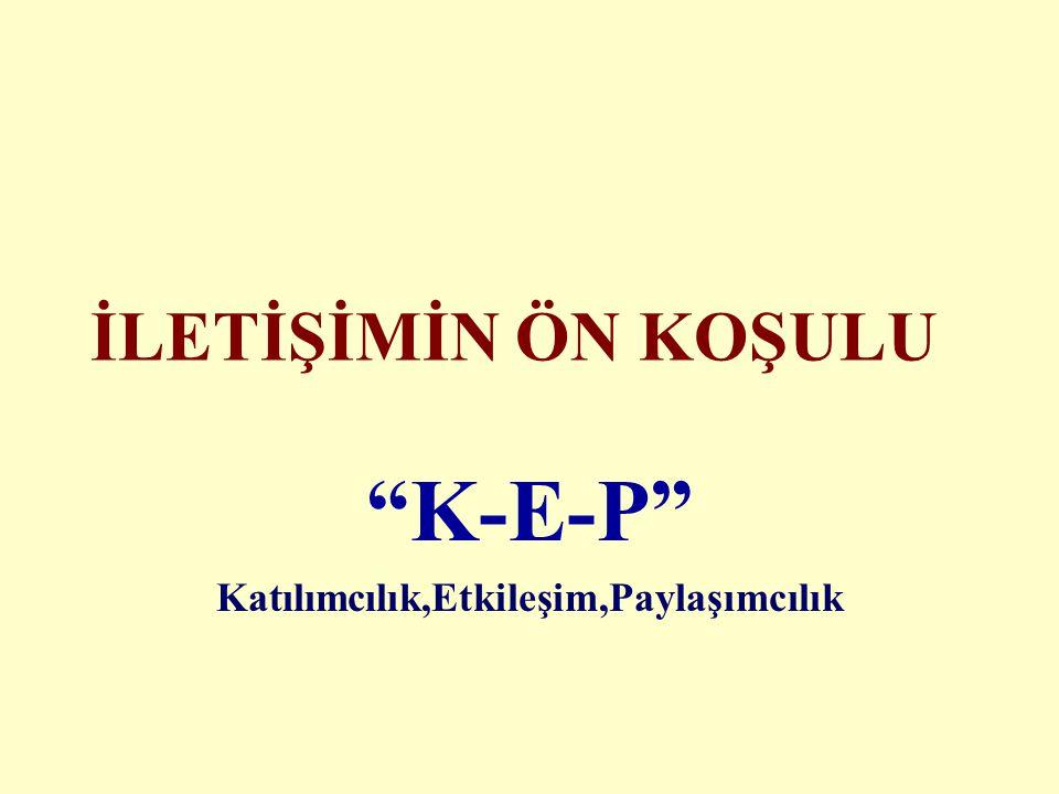 K-E-P Katılımcılık,Etkileşim,Paylaşımcılık