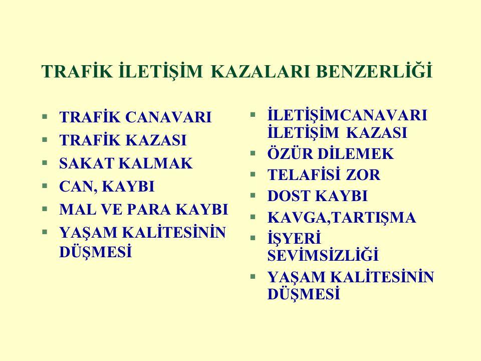 TRAFİK İLETİŞİM KAZALARI BENZERLİĞİ