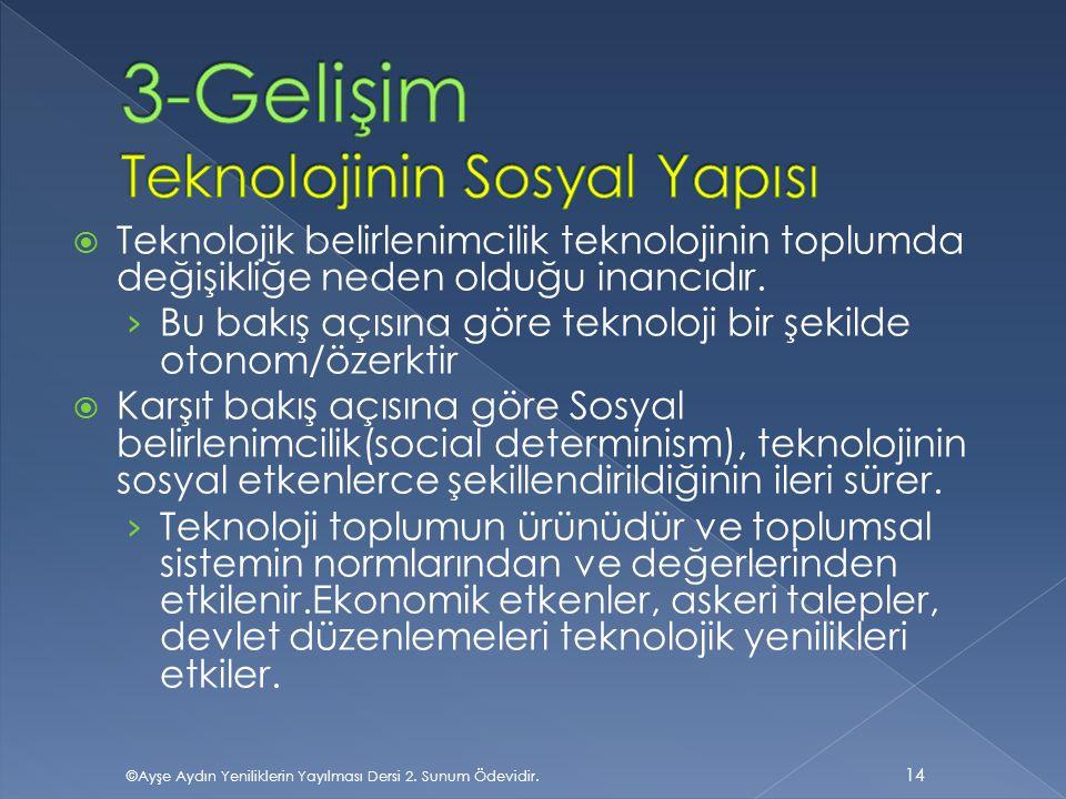3-Gelişim Teknolojinin Sosyal Yapısı