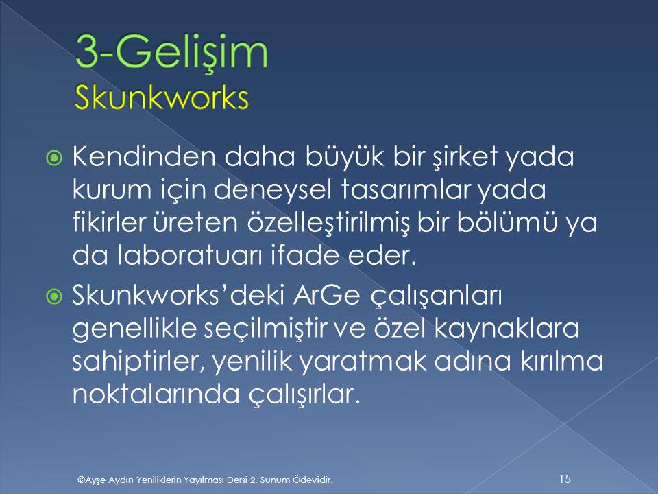 3-Gelişim Skunkworks
