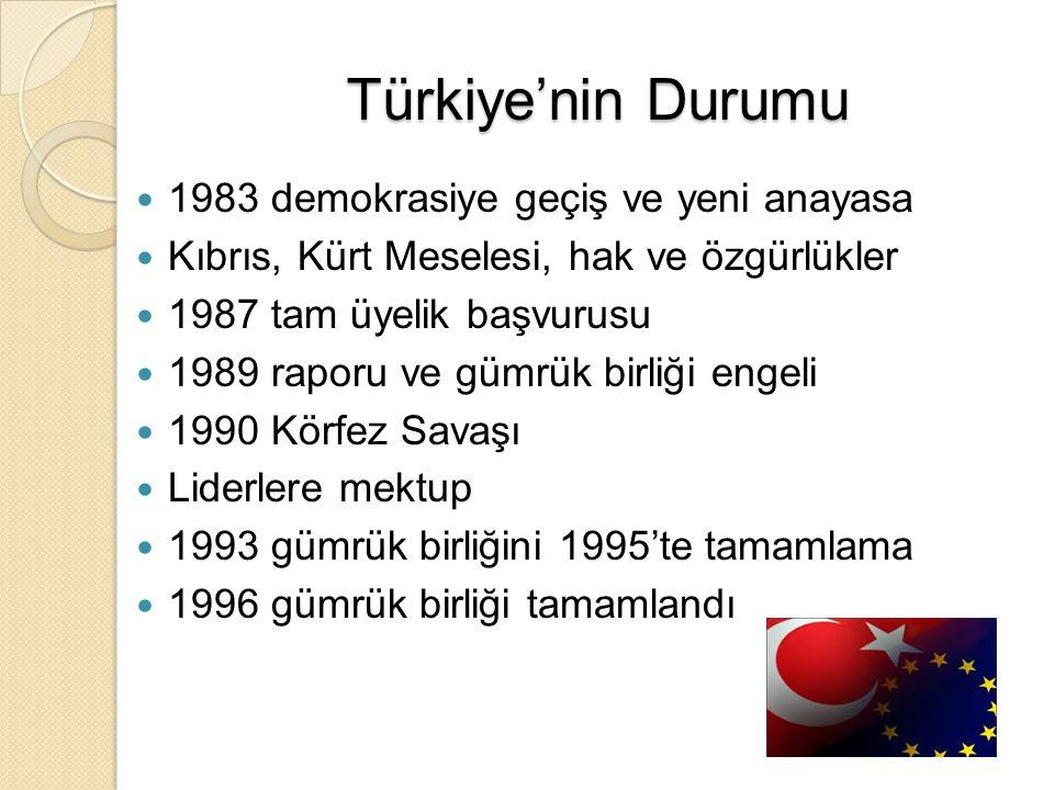 Türkiye'nin Durumu 1983 demokrasiye geçiş ve yeni anayasa