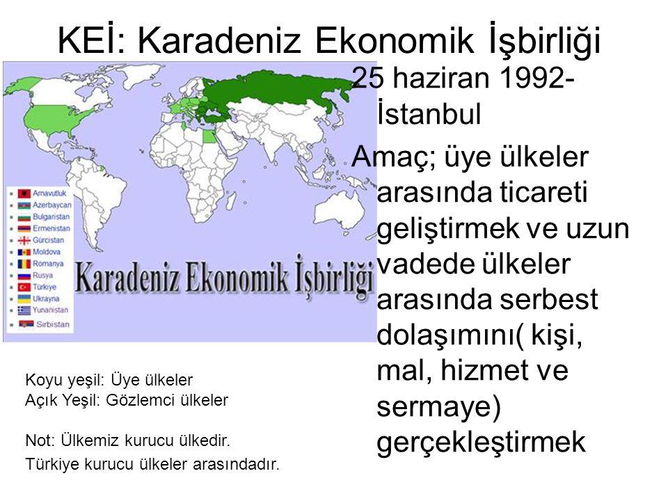 KEİ: Karadeniz Ekonomik İşbirliği