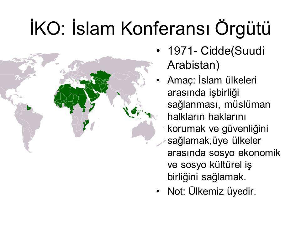 İKO: İslam Konferansı Örgütü