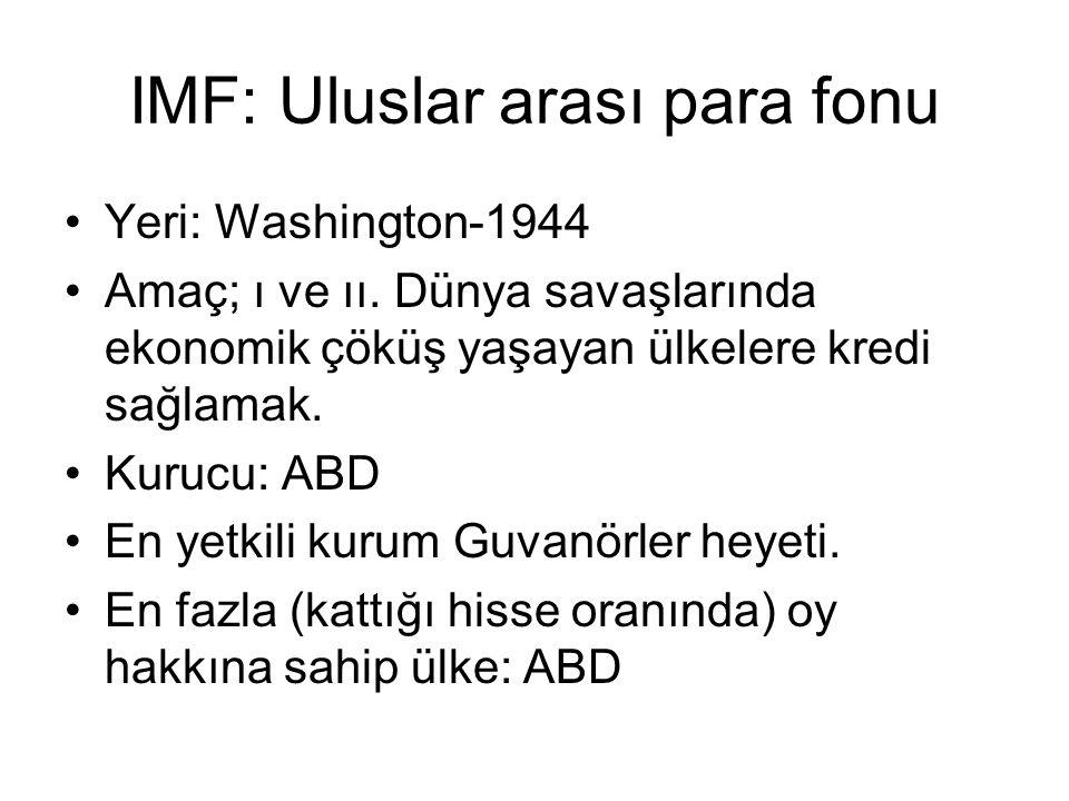 IMF: Uluslar arası para fonu