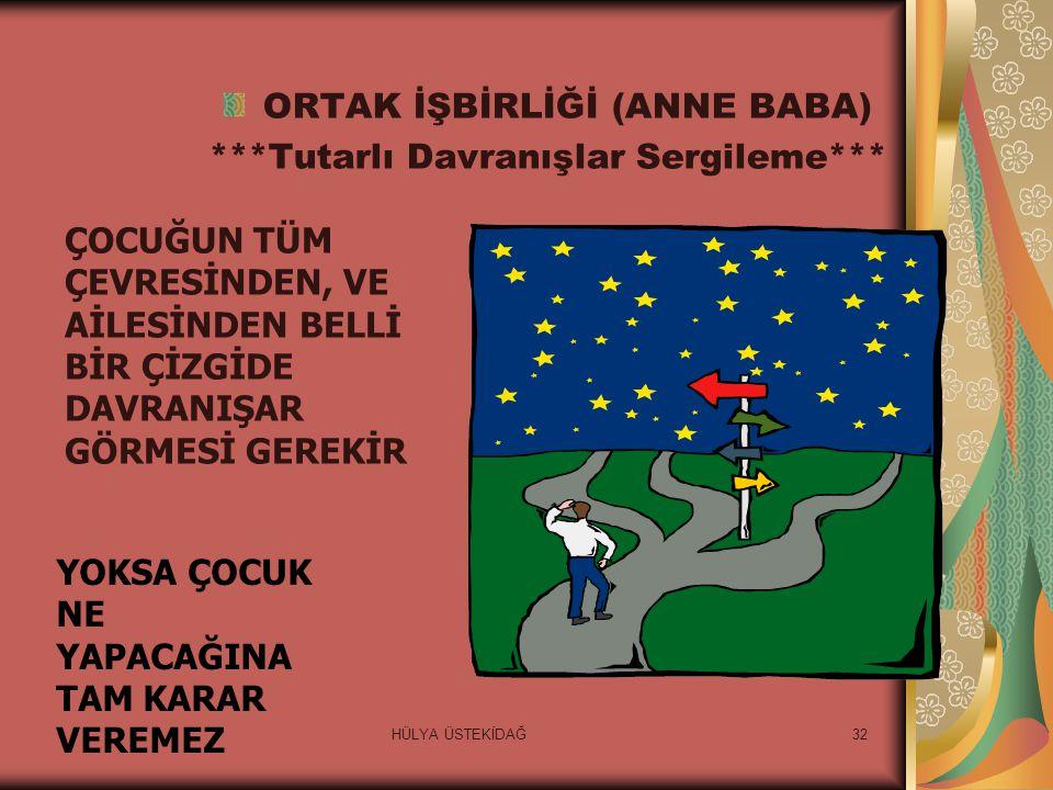 ORTAK İŞBİRLİĞİ (ANNE BABA)