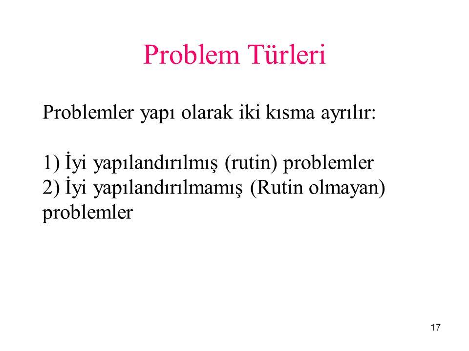 Problem Türleri