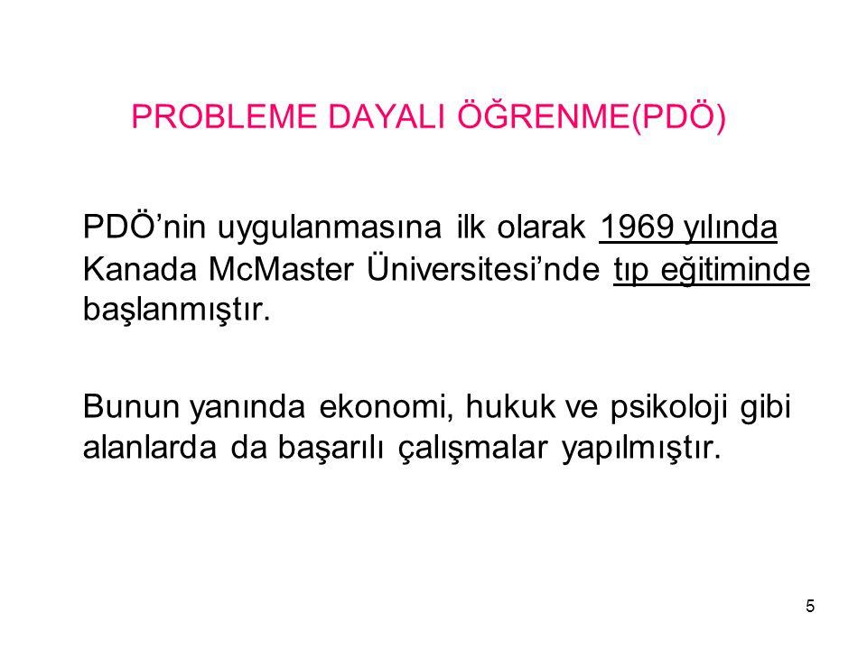 PROBLEME DAYALI ÖĞRENME(PDÖ)
