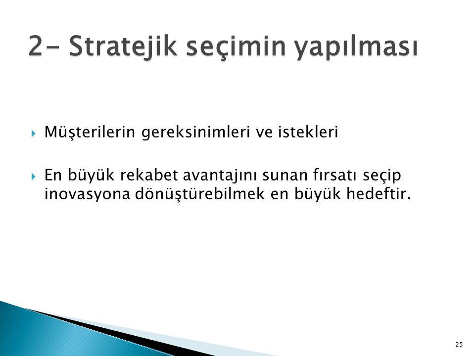 2- Stratejik seçimin yapılması