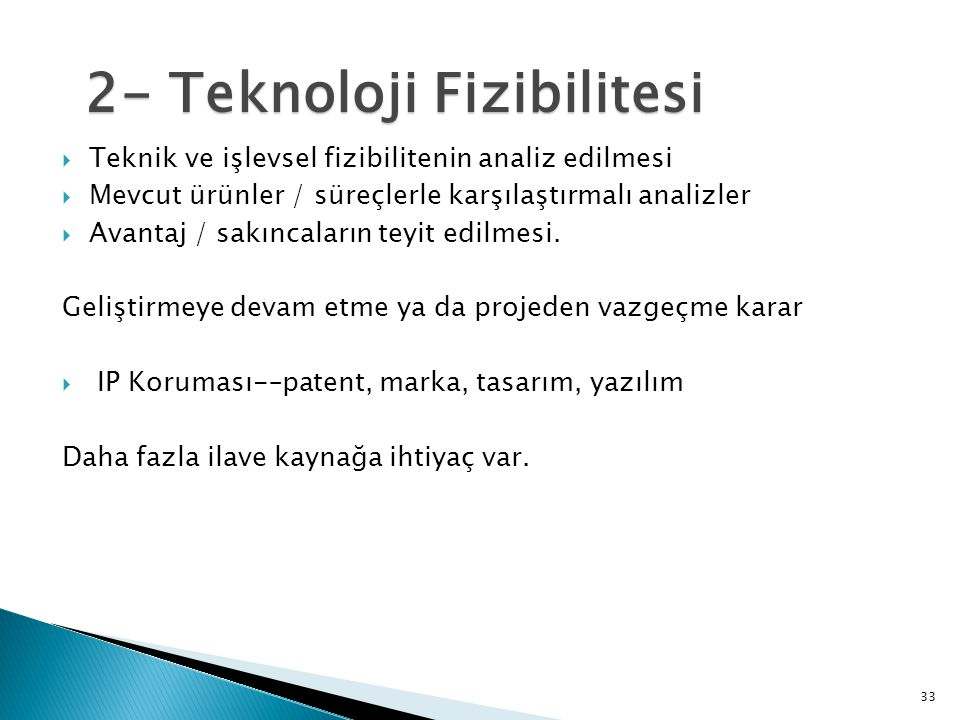 2- Teknoloji Fizibilitesi