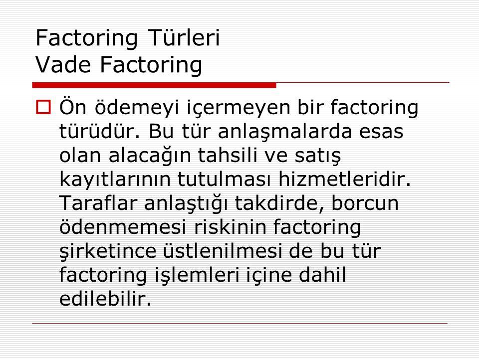 Factoring Türleri Vade Factoring