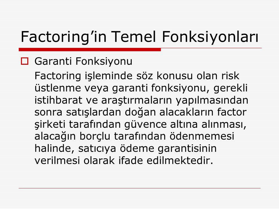 Factoring'in Temel Fonksiyonları