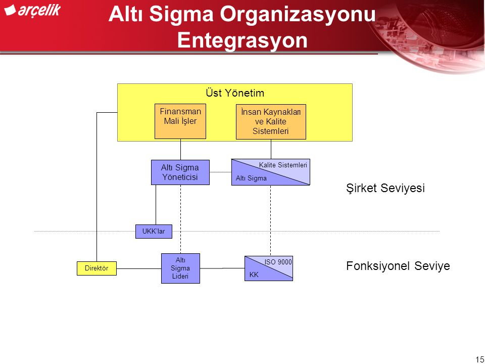 Altı Sigma Organizasyonu Entegrasyon