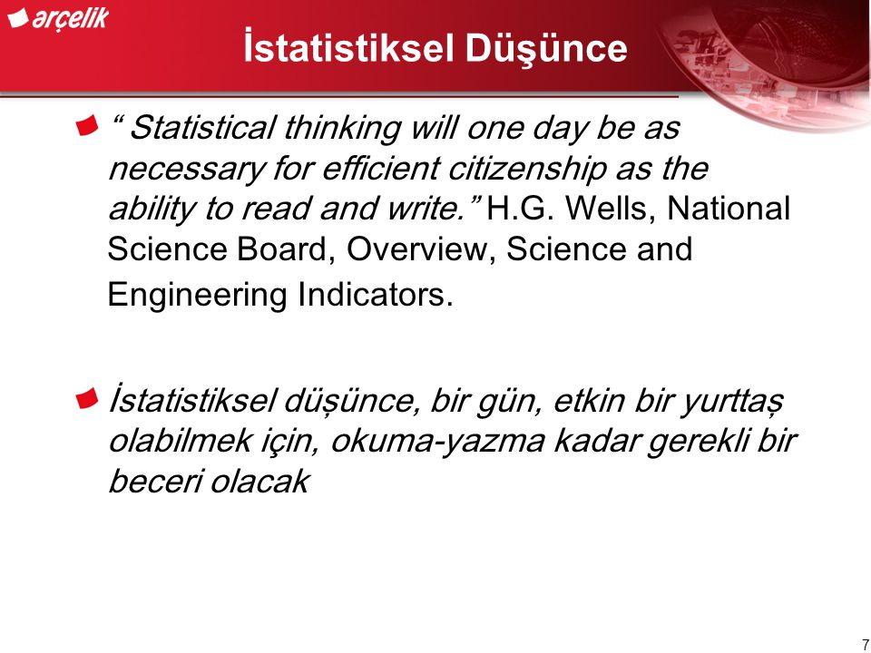 İstatistiksel Düşünce
