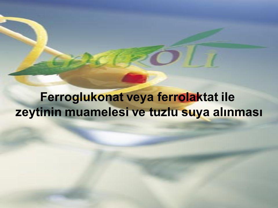 Ferroglukonat veya ferrolaktat ile