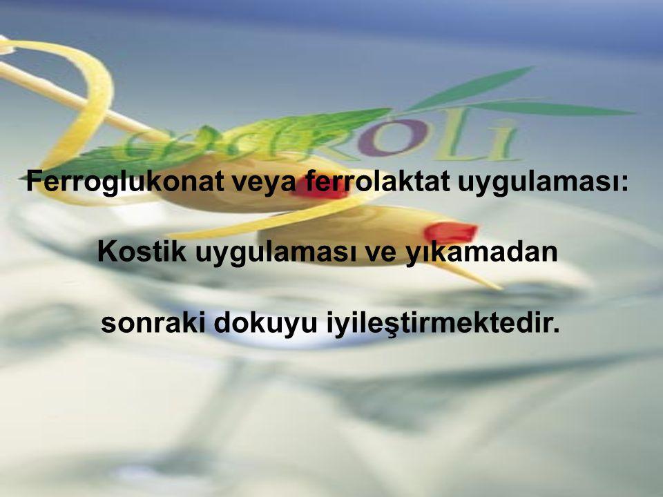 Ferroglukonat veya ferrolaktat uygulaması: