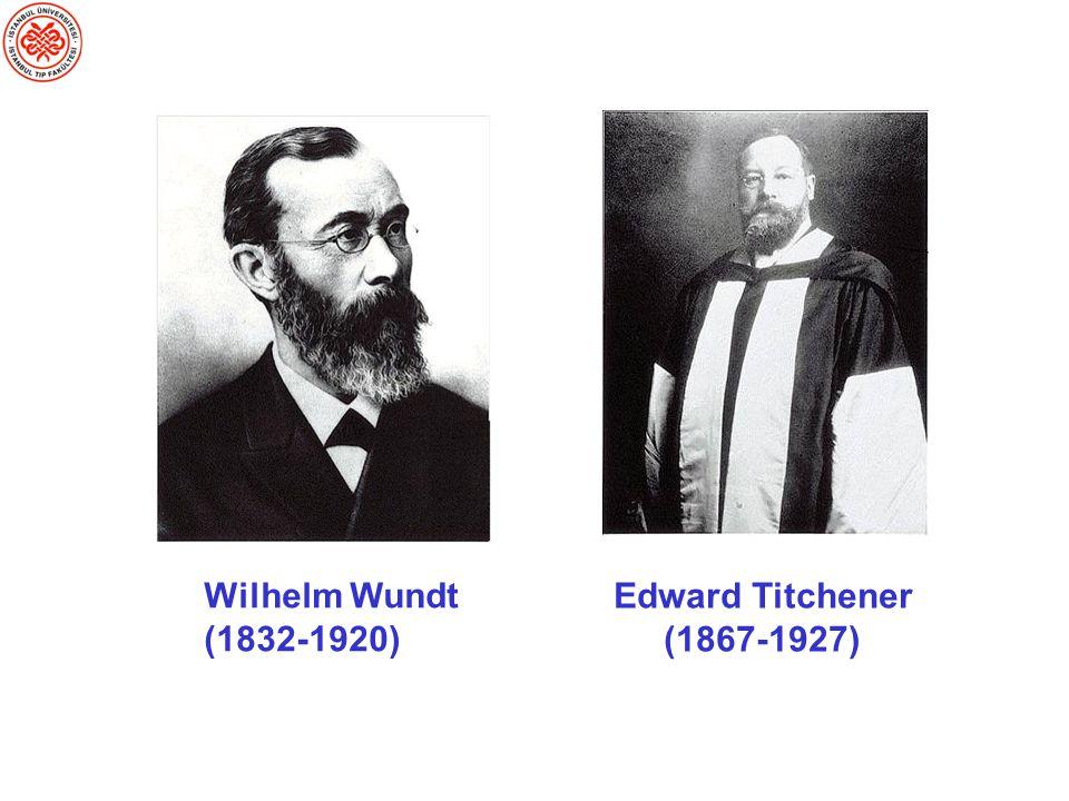 Wilhelm Wundt (1832-1920) Edward Titchener (1867-1927)