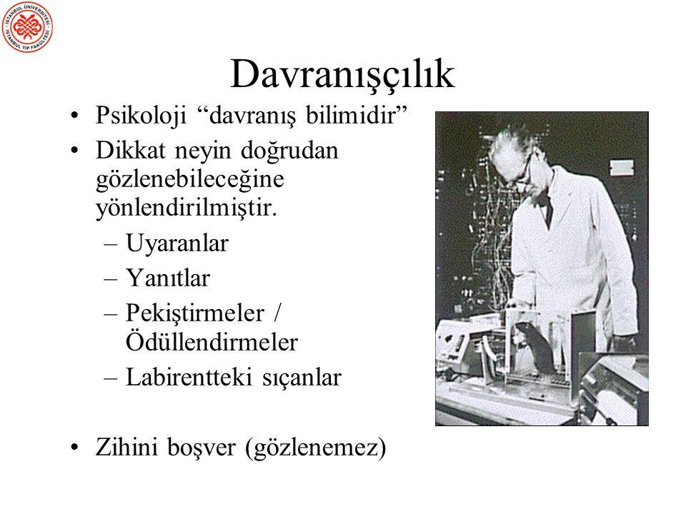 Davranışçılık Psikoloji davranış bilimidir