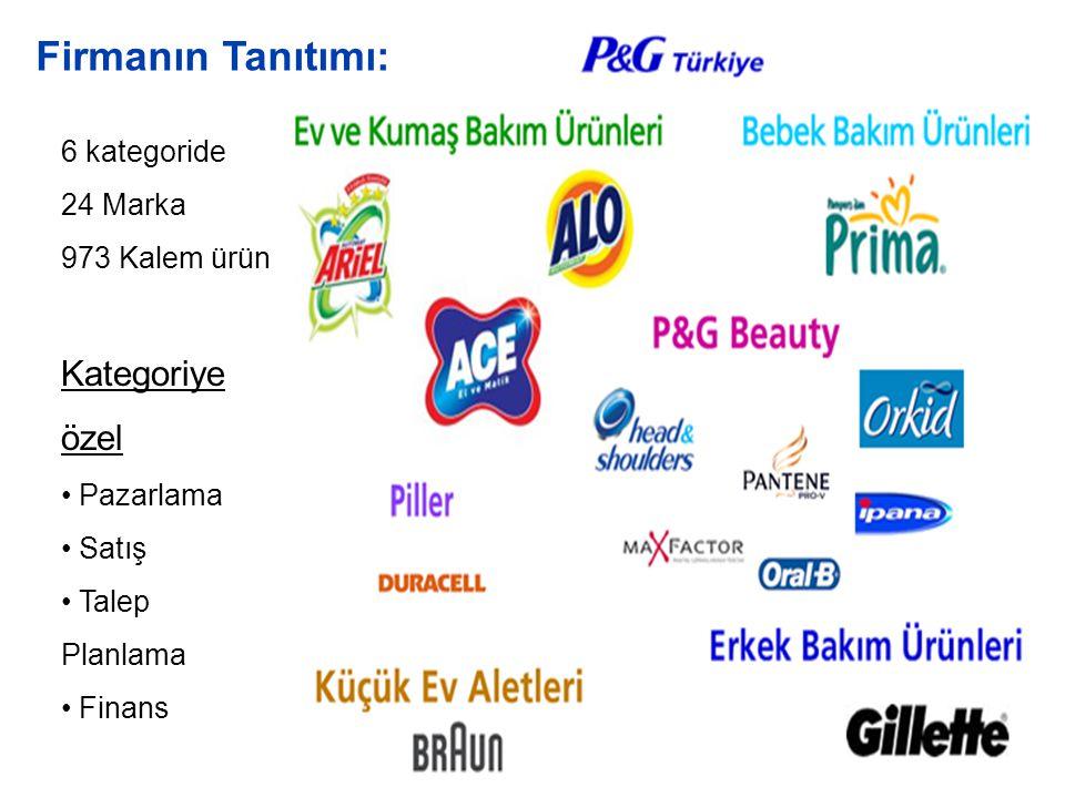 Firmanın Tanıtımı: Kategoriye özel 6 kategoride 24 Marka