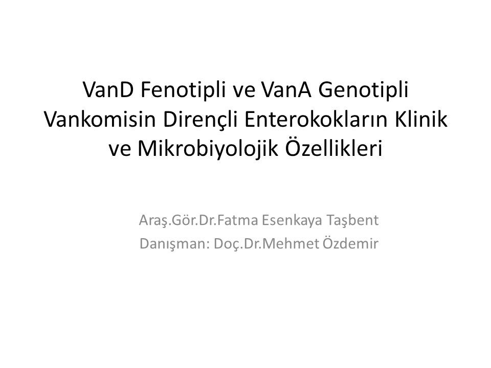 Araş.Gör.Dr.Fatma Esenkaya Taşbent Danışman: Doç.Dr.Mehmet Özdemir