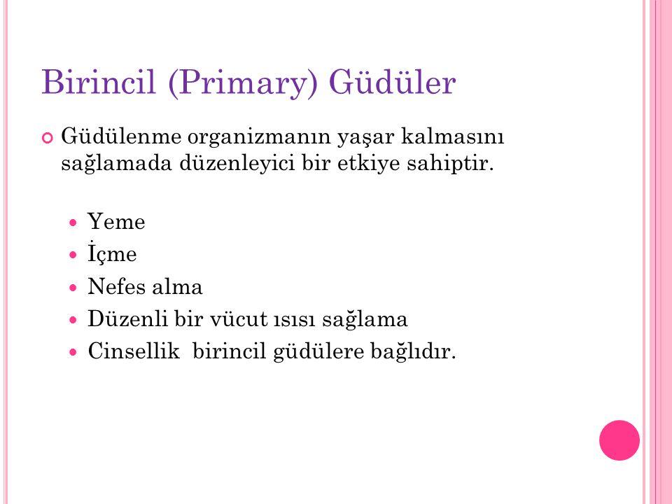 Birincil (Primary) Güdüler