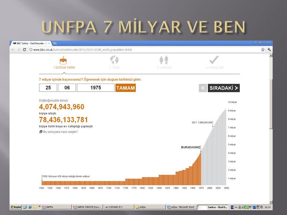 UNFPA 7 MİLYAR VE BEN