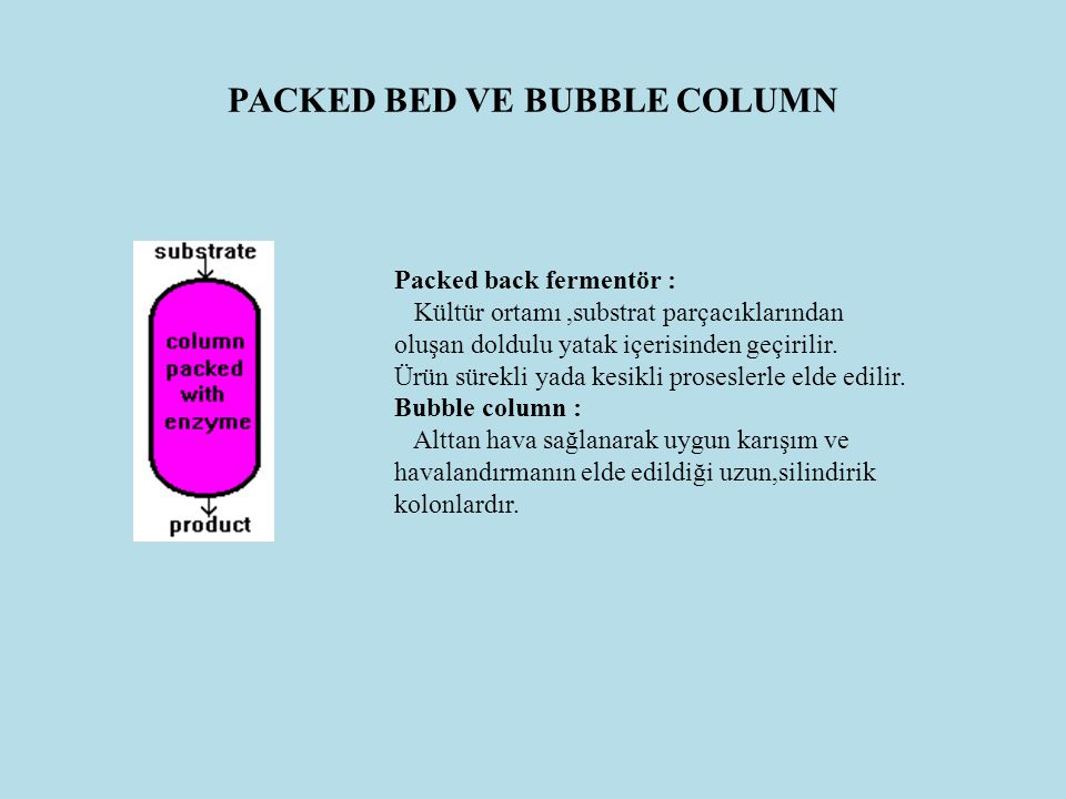 PACKED BED VE BUBBLE COLUMN