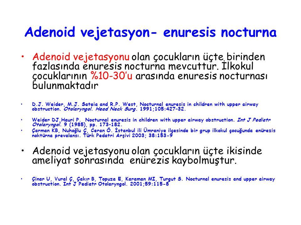 Adenoid vejetasyon- enuresis nocturna