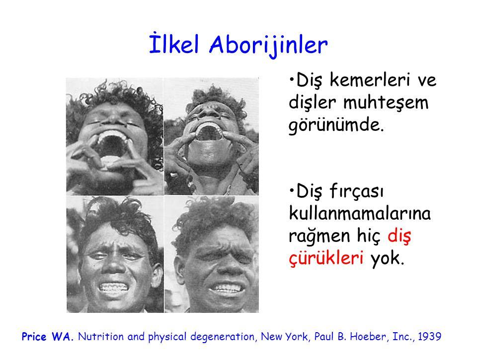 İlkel Aborijinler Diş kemerleri ve dişler muhteşem görünümde.