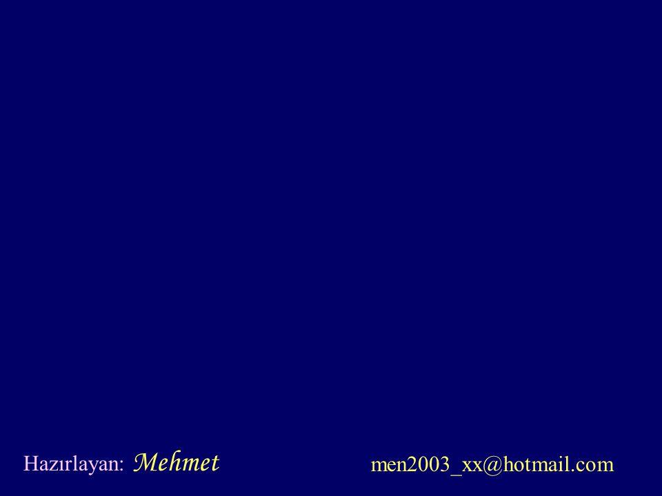 Hazırlayan: Mehmet men2003_xx@hotmail.com