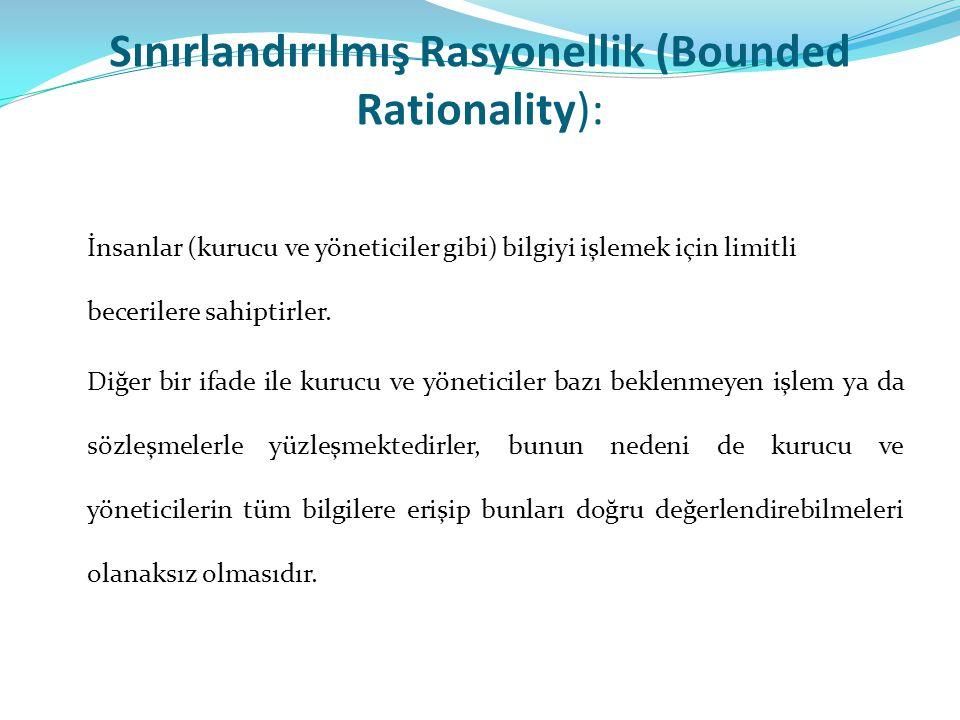 Sınırlandırılmış Rasyonellik (Bounded Rationality):