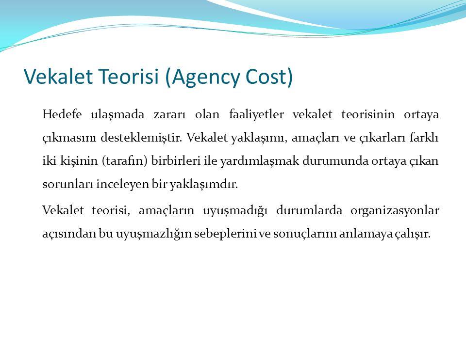 Vekalet Teorisi (Agency Cost)