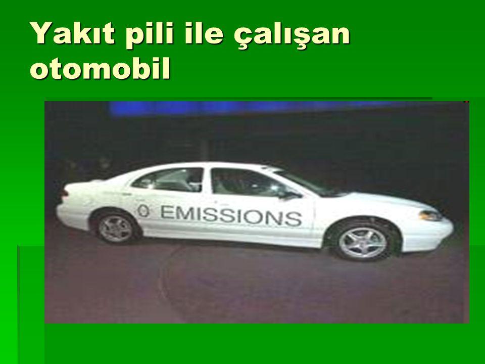 Yakıt pili ile çalışan otomobil