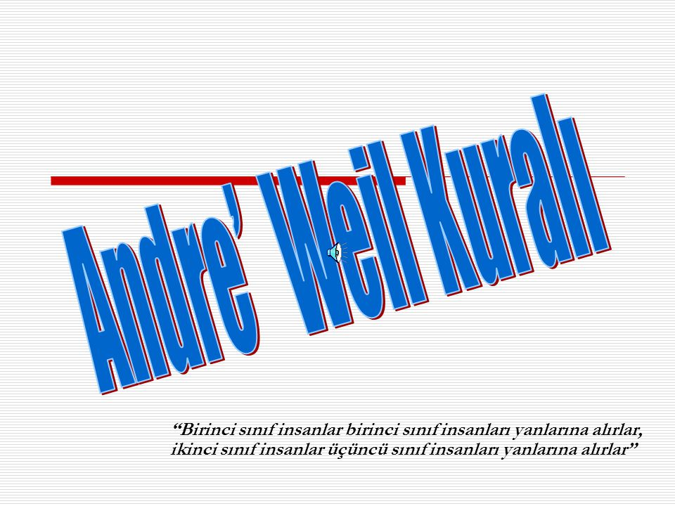 Andre' Weil Kuralı