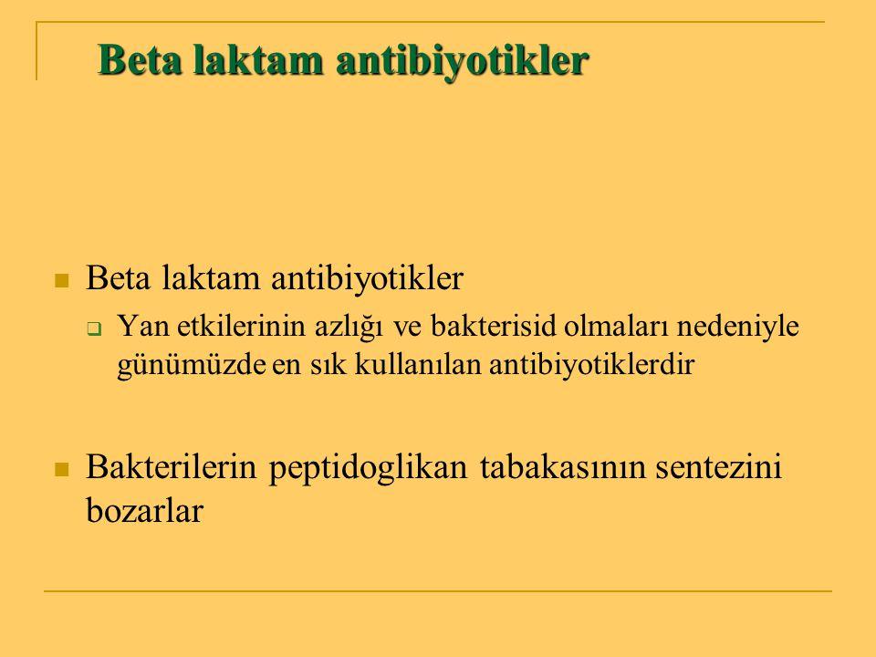 Beta laktam antibiyotikler